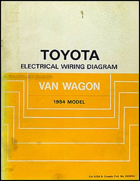 1984 toyota wagon wiring diagram manual original