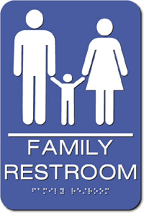 family bathroom sign family unisex ada bathroom sign 6 quot x 9 quot adasigndepot com