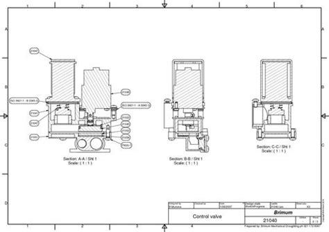 what is a cross section drawing control valve cross section drawing brimum mechanical