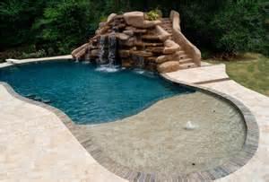 inground pool with waterfall inground pool waterfall kits backyard design ideas