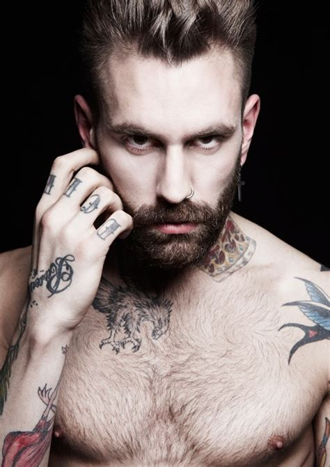 guys with beards and tattoos tattoo ink love art bird men guy boy sexy eyes pin repin