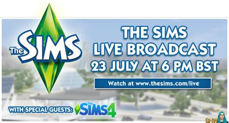 live broadcast the sims live broadcast snw simsnetwork