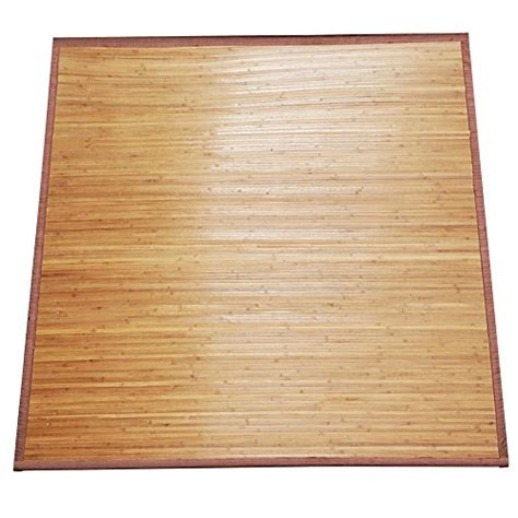 World Pride Modern Design Indoor Outdoor Natural Bamboo Bamboo Outdoor Rug