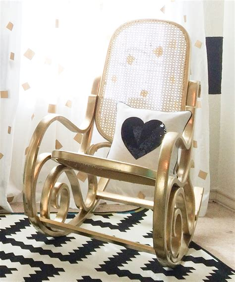 Vintage Bentwood Chairs by Black White And Gold Nursery Project Nursery