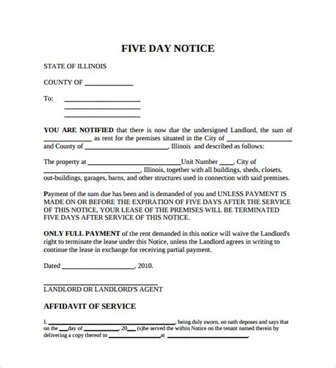 eviction notice template alberta free sle eviction notice letter 8 free documents in pdf word