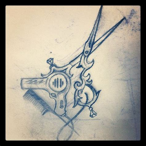 hair scissor tattoo designs best 25 hairstylist tattoos ideas on scissor