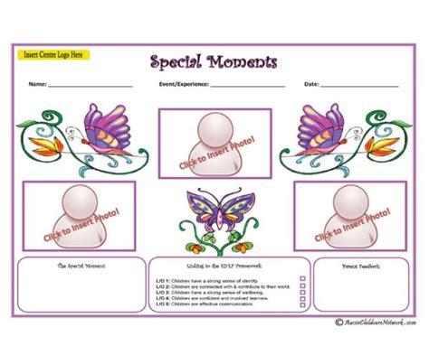 Special Moments Pink Aussie Childcare Network Child Portfolio Templates