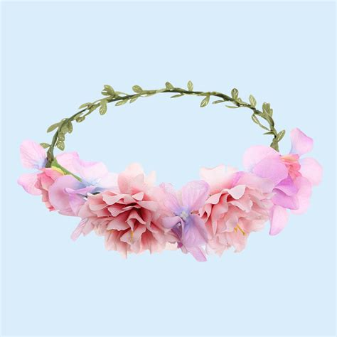 Handmade Flower Crown - handmade flower garland floral crown headband hair