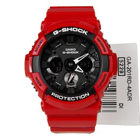 Casio G Shock Ga 201 Rd 4adr Glossy Original casio g shock mens ga 201rd 4adr
