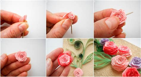 How To Make Roses With Quilling Paper -