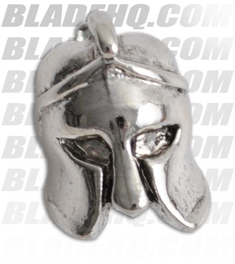 spartan blades pewter helmet lanyard bead 1 3 25 0 4