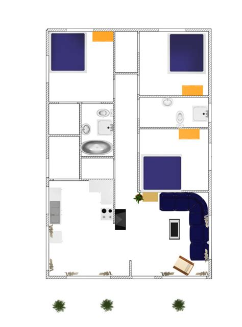 floor plan 3d free download 3d small house plane idea 102 free download form dwg net com