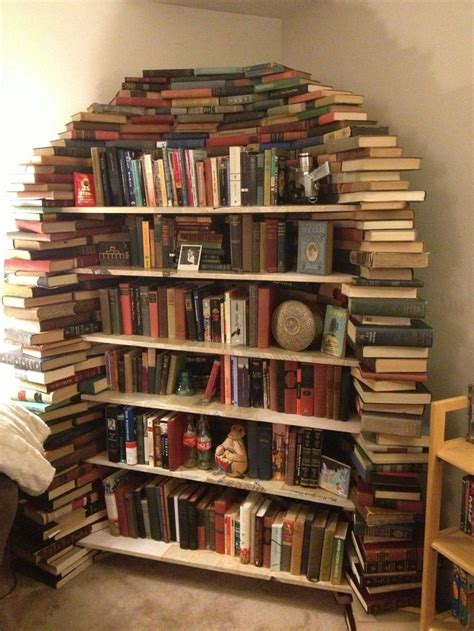 interesting bookshelves this is my bookshelf made out of books books