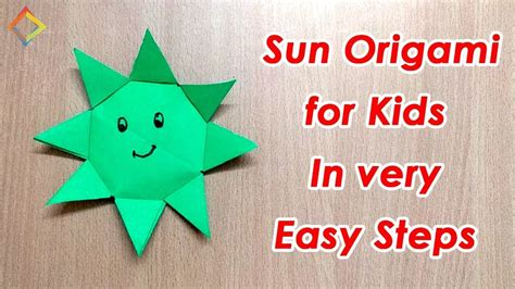 How To Make A Origami Sun - how to make origami sun for in 5 minutes step by step