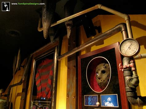 horror themed home decor custom man cave horror themed home theater movie prop
