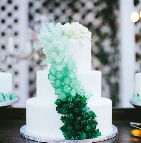 Rocks For Cake Decorating by 13 Glam And Modern Wedding Cakes Decorated With Rocks And