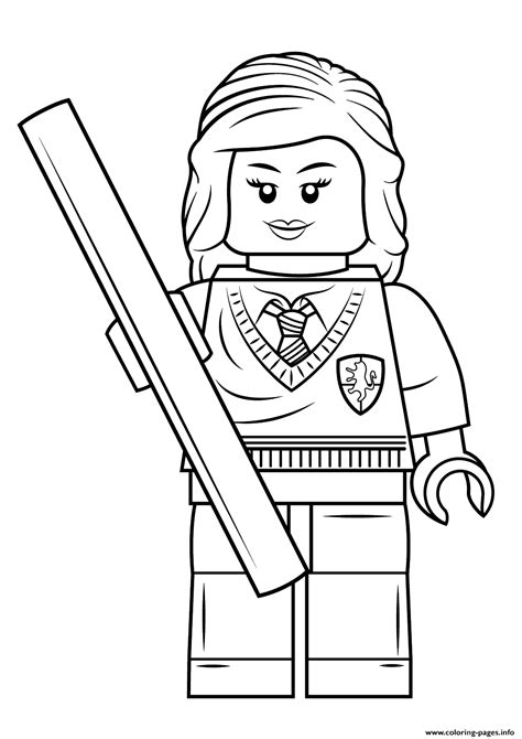 lego hermione granger harry potter coloring pages printable
