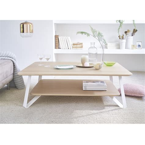 table blanc et bois the oak coffee table savelon meubles