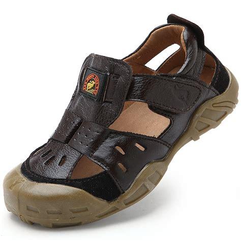 sandals for boys 2016 brand genuine leather fashion sandals for boy fashion