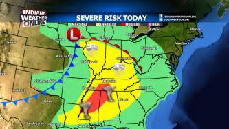 severe weather risk area weather map today