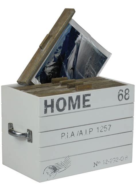 fotobox quot home quot aufbewahrungsbox aus holz f 252 r fotos mit