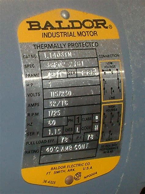 baldor motor nameplate wiring diagram fan motor wiring