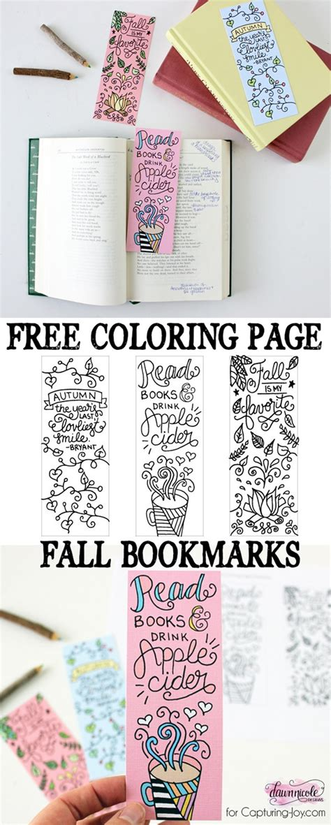 printable autumn bookmarks to color 12 fall coloring pages for adults free printables