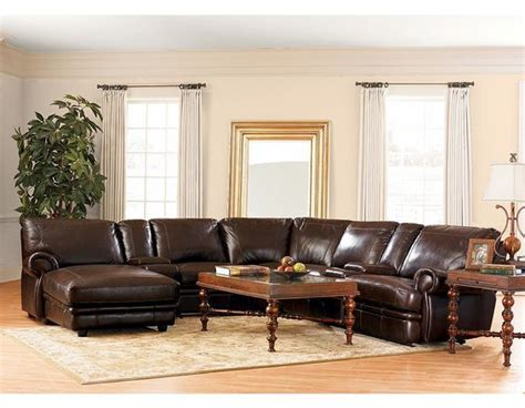 havertys leather sectional haverty s leather reclining sectional for the home