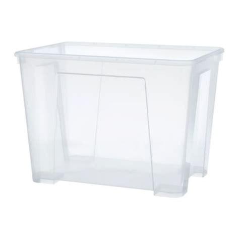 ikea plastic bins samla box clear ikea