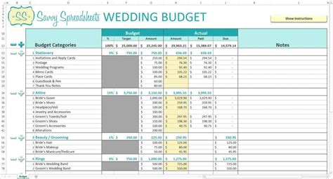 Wedding Planning Excel Spreadsheet by Wedding Budget Spreadsheet Excel Wedding Planning