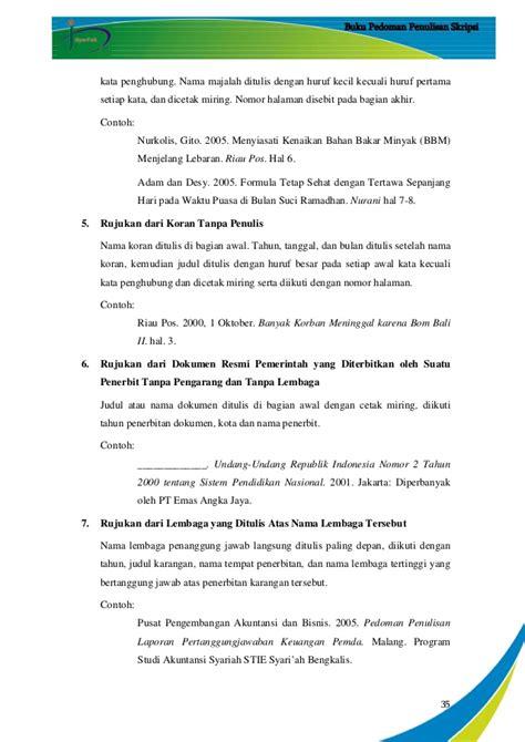 tesis akuntansi pertanggungjawaban pedoman penulisan skripsi stie s tahun 2015