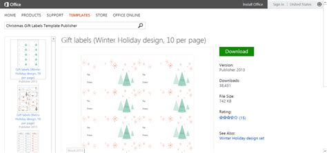 Microsoft S Best Free Diy Christmas Templates Microsoft Publisher Label Templates