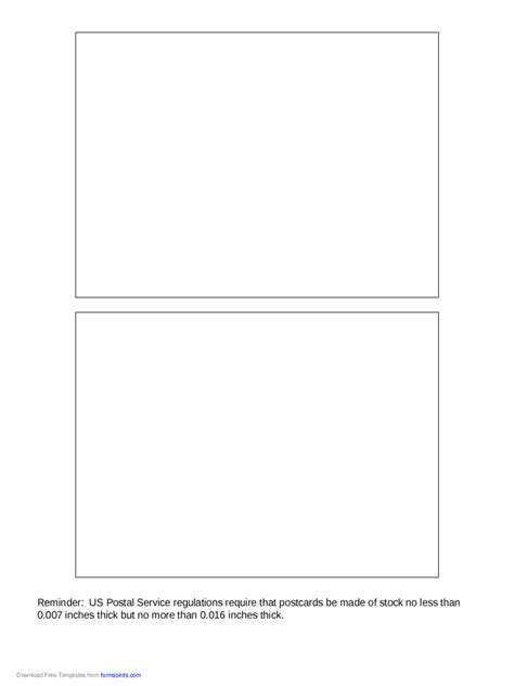 2018 Postcard Back Template Fillable Printable Pdf Forms Handypdf Jumbo Postcard Template