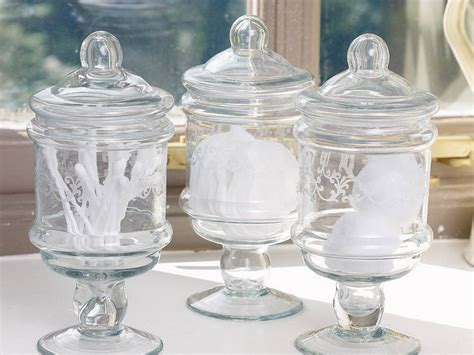 bathroom glass jars glass bathroom jars with lids thedancingparent com