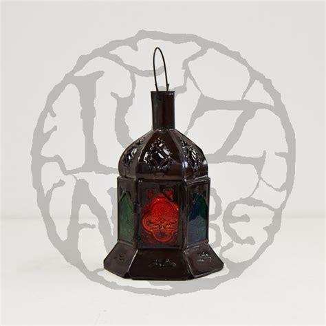 lanterne candele acquista lanterna di candele esagonale di vetro colorato e