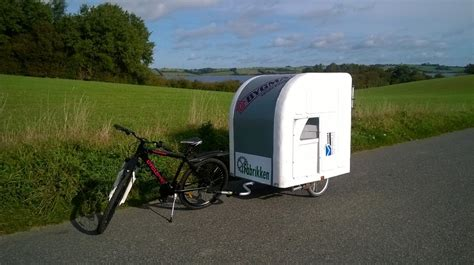 Camper Trailer Kitchen Designs by Meet The Camper Made To Pull Behind Your Bike