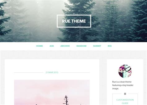 tumblr themes big pictures free rue tumblr