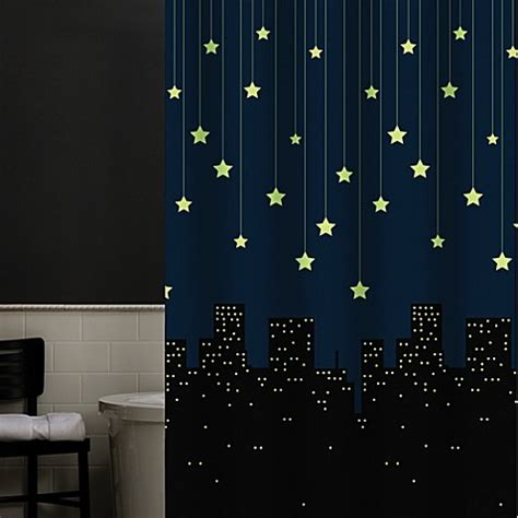 twinkle shower curtain twinkle 70 inch x 72 inch peva shower curtain bed bath