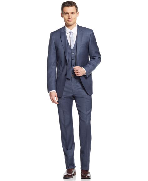 gray with blue blue grey suit dress yy