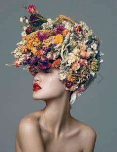 Diane Flower Headpiece flower brides by diane cabasse via behance hello fleurs behance flower and