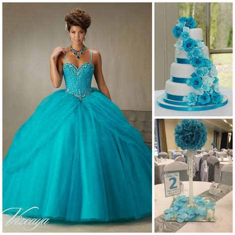 quinceanera themes blue quince theme decorations blue centerpieces blue cakes