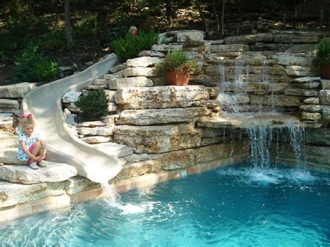 Backyard Pool With Slide 15 Best Ideas About Pool Slides On Swimming Pool Slides Pool With Slide And