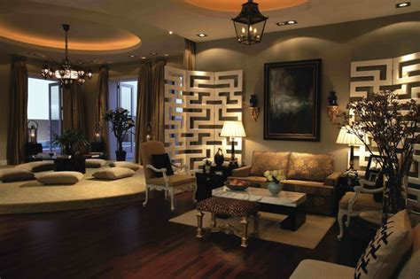 International Interior Design Companies In Dubai by Al Khawaneej Villa Living Room Other