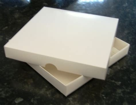 Boxes For Handmade Cards - 5 x white 6x6 square box for handmade greeting cards top