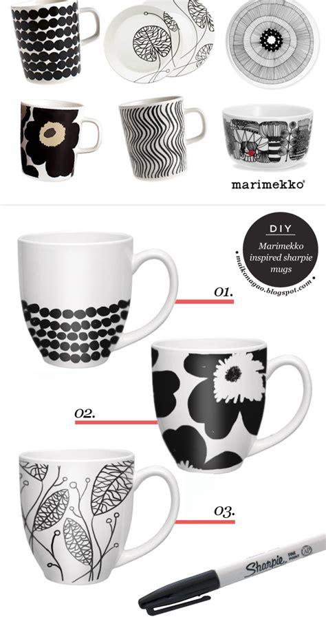 diy sharpie mug designs maiko nagao diy marimekko inspired sharpie mugs