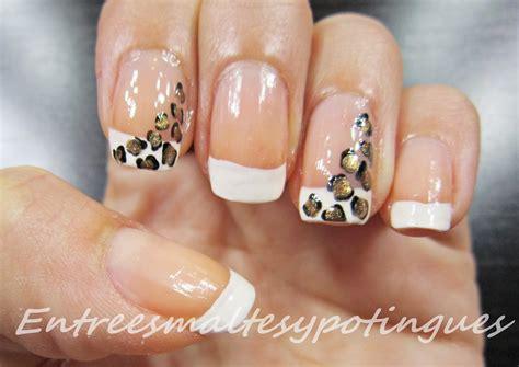 imagenes de uñas acrilicas de leopardo u 241 as francesas u 241 as decoradas