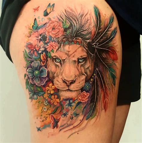 imagenes de leones tatoo 21 ideas de tatuajes de leones de hombre mujer fotos