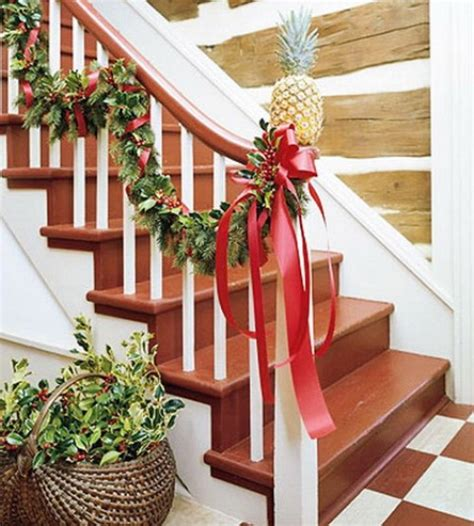decorating a banister 100 awesome christmas stairs decoration ideas digsdigs