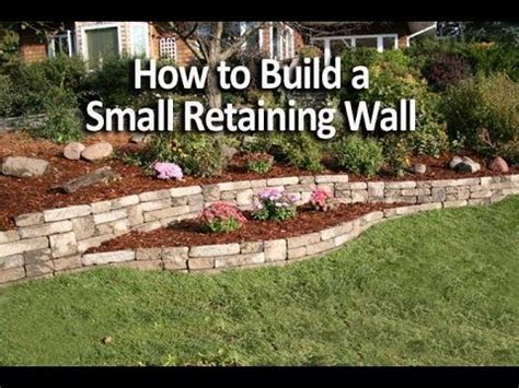 how to build a small retaining wall in a weekend youtube