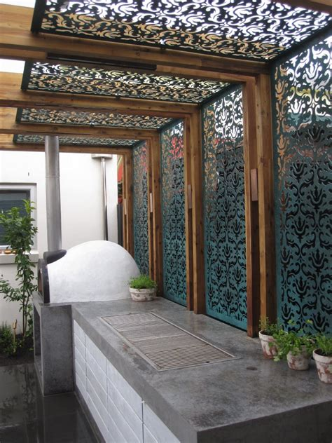 l and shade works l shaped pergola residential gl steel diy shade screen in